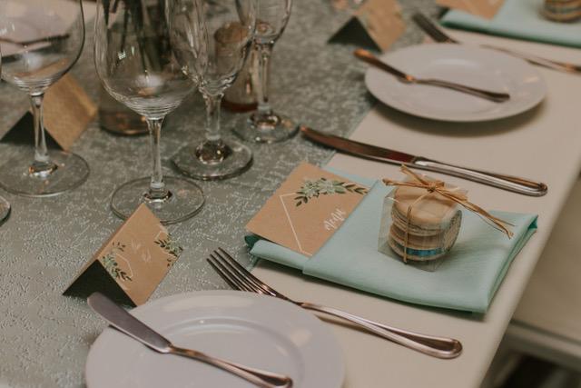 Mint Tavira Table Linen. Light Green Table Cloth