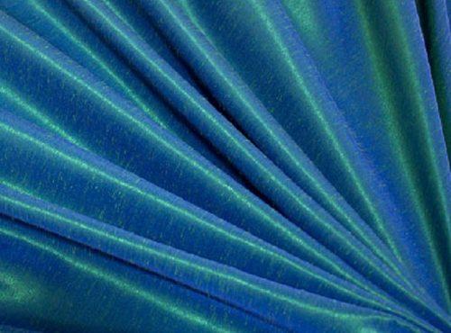 Aquamarine Dupioni Table Linen, Blue Table Cloth
