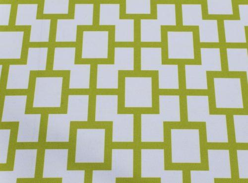 Avocado Piazza Table Linen, Green Geometric Table Cloth