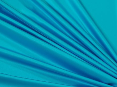 Baja Turquoise Lamour Table Linen, Teal Satin Table Cloth