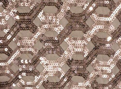 Blush Geometric Sequin Table Linen, Sheer Pink Table Cloth, Pink Sequin Table Cloth