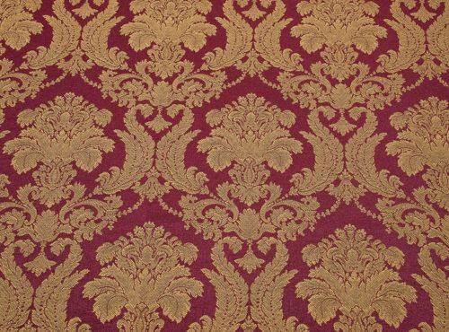 Bordeaux Brocade Table Linen, Red and Gold Brocade Linen