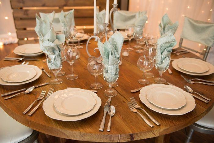 Mint Tavira Napkin, Mint Tavira Tablecloth