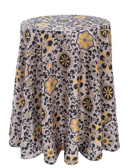 Posy Table Linen, Yellow Floral Table Cloth