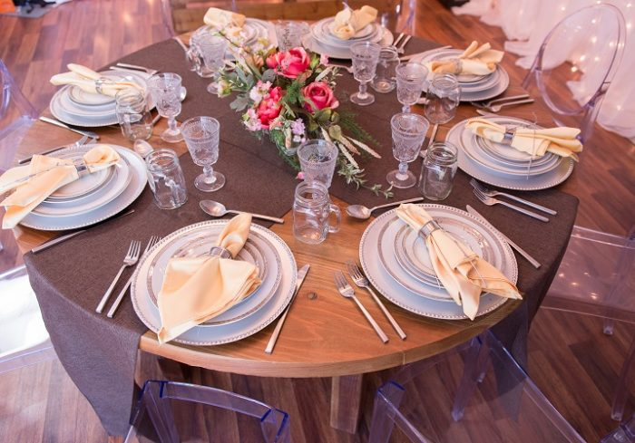Chocolate Vintage Linen Table Cloth, Dark Brown Rustic Table Cloth