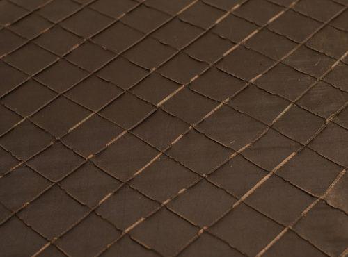 Espresson Pintuck Table Linen, Dark Brown Pintuck Table Cloth