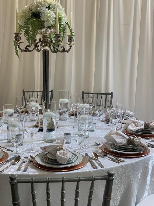 White Crush Table Linen, White Crinkle Table Cloth