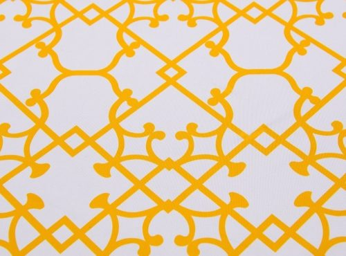 Sunflower Versailles Table Linen, Yellow Pattern Table Cloth
