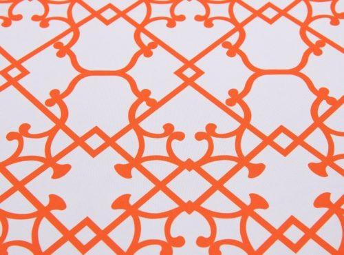 Tangerine Versailles Table Linen, Orange Pattern Table Cloth