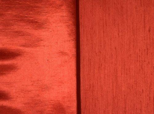 Terracotta Shantung Linen, Orange Shantung Table Cloth