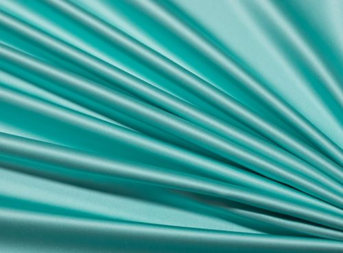 Tiffany Blue Lamour Table Linen, Light Teal Satin Table Cloth