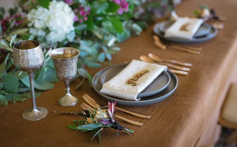 Tan Suede Table Linen, Brown Faux Suede Table Cloth