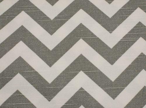 Rustic Cool Grey Chevron Table Linen