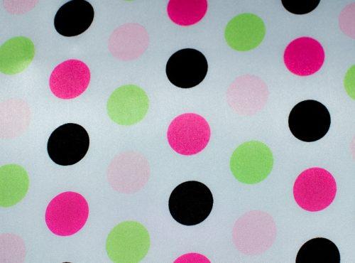 Pink Lime Polka Dot Linen, Bridal Shower Linen, Baby Shower Linen, Kids Birthday Linen