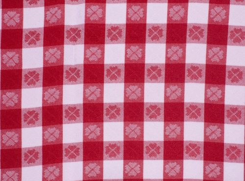Red Picnic Check, Red Gingham