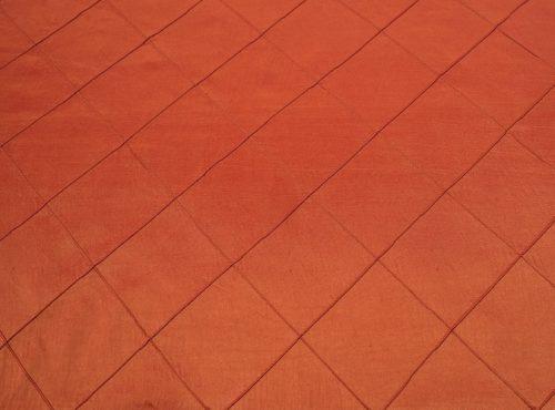 Terracotta Pintuck Table Linen, Orange Pintuck Table Cloth
