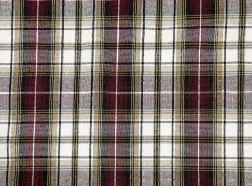 Manchester Plaid Table Linen, Burgundy Plaid Table Cloth