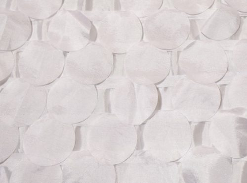 Ivory Petal Taffeta Table Linen, Ivory Paillette Table Cloth