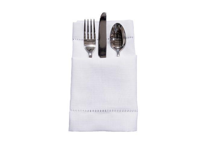 White Hemstitch Napkin, White Linen Napkin, #theNAPKINmovement