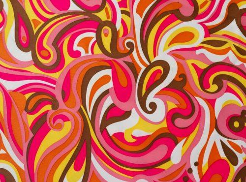 Pink & Yellow Paisley Pucci