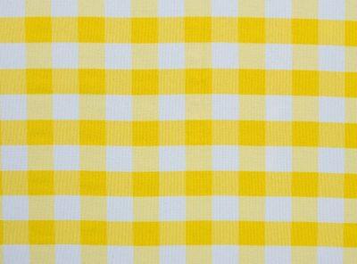 Yellow Check Table Linen, Yellow Gingham Table Cloth