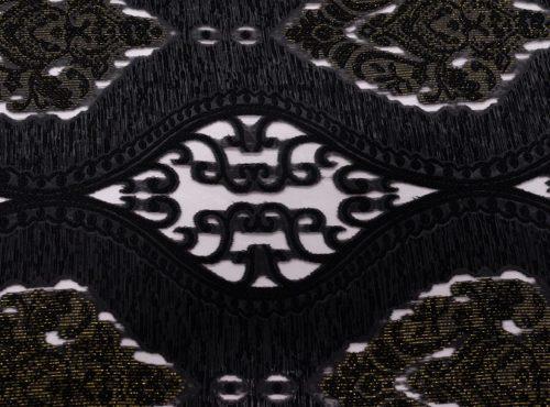 Black Damask Sheer Swatch
